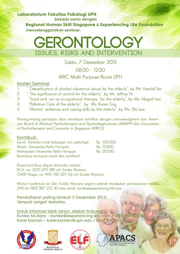 experiencing life foundation - gerontology